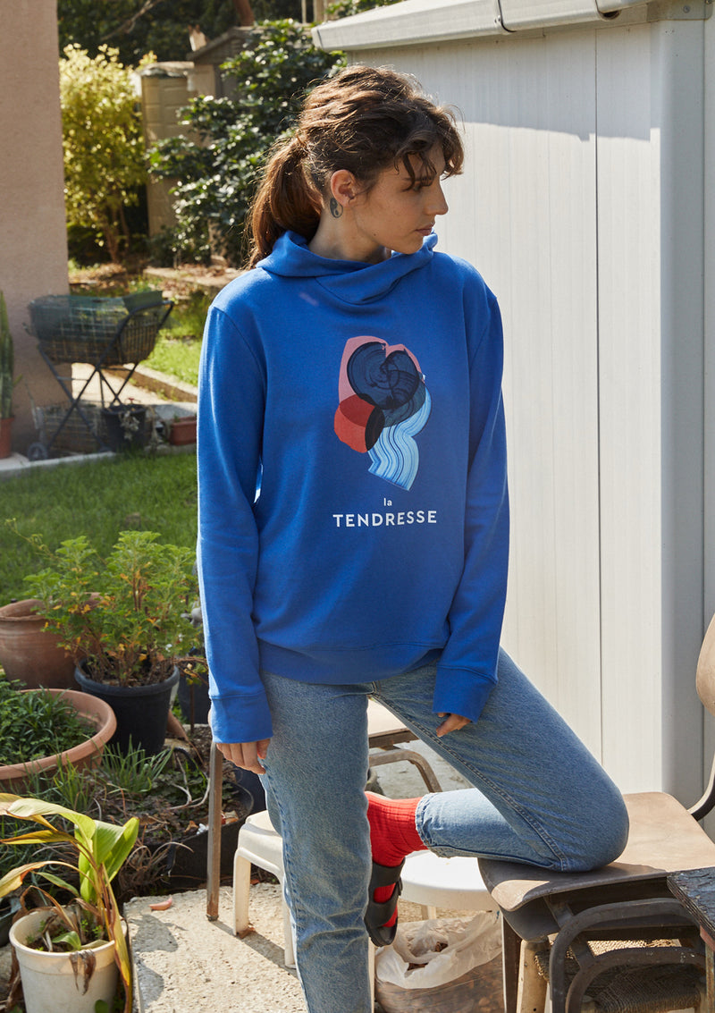 Tree Hoodie in Electric Blue