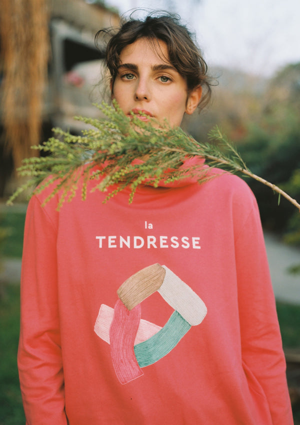 Branch Hoodie in Coral