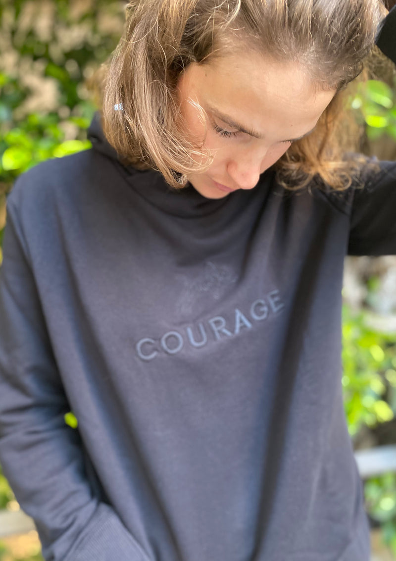 Courage Hoodie in Black