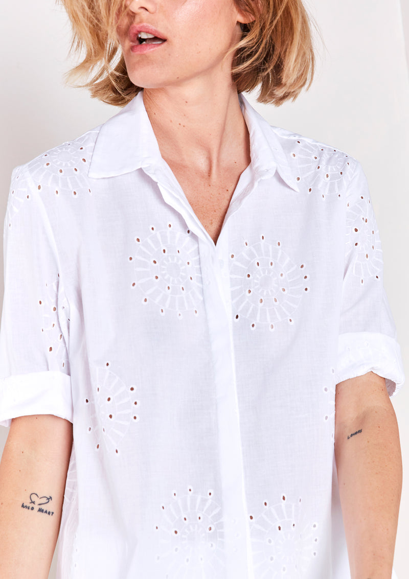 Best of Summer Button-down Blouse Size S