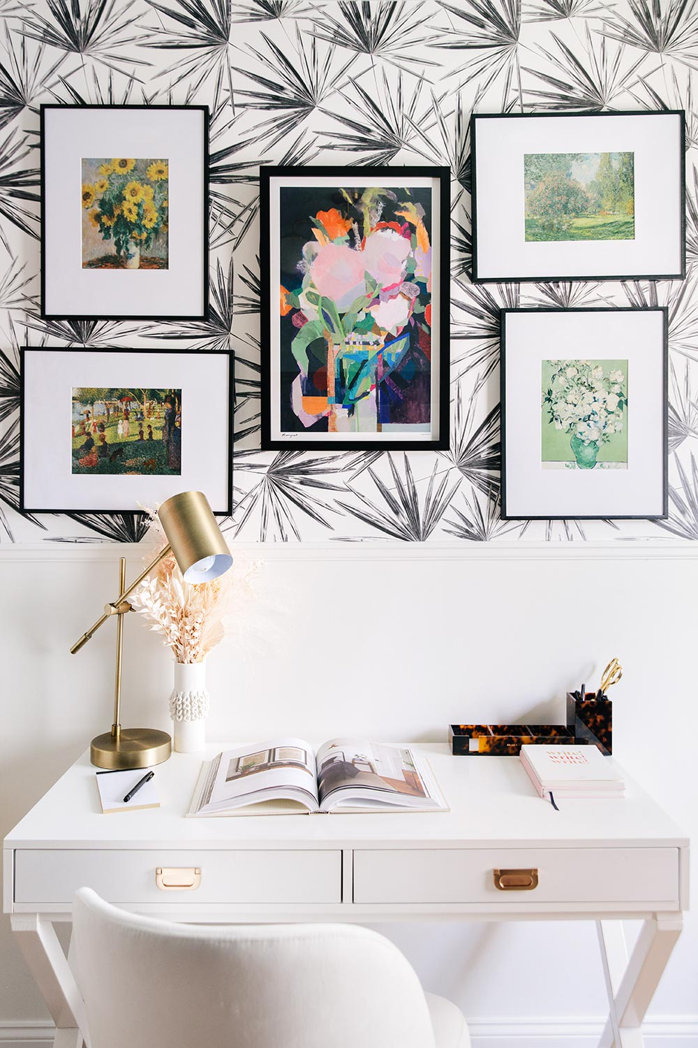 Black and White removable wallpaper interior ideas for your home