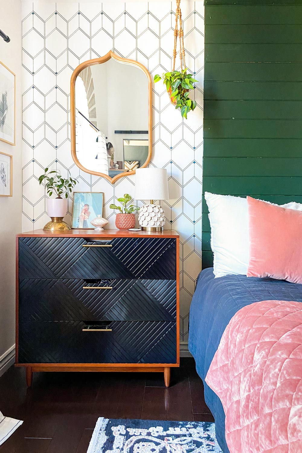 Removable wallpaper DIY at home featuring colourful home decors