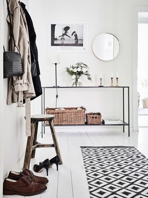 Scandinavian foyer interior