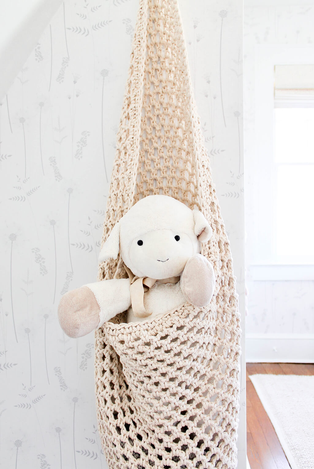 Nursery hanging basket toy storage ideas