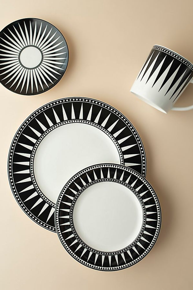 Modern pattern black and white dinnerware