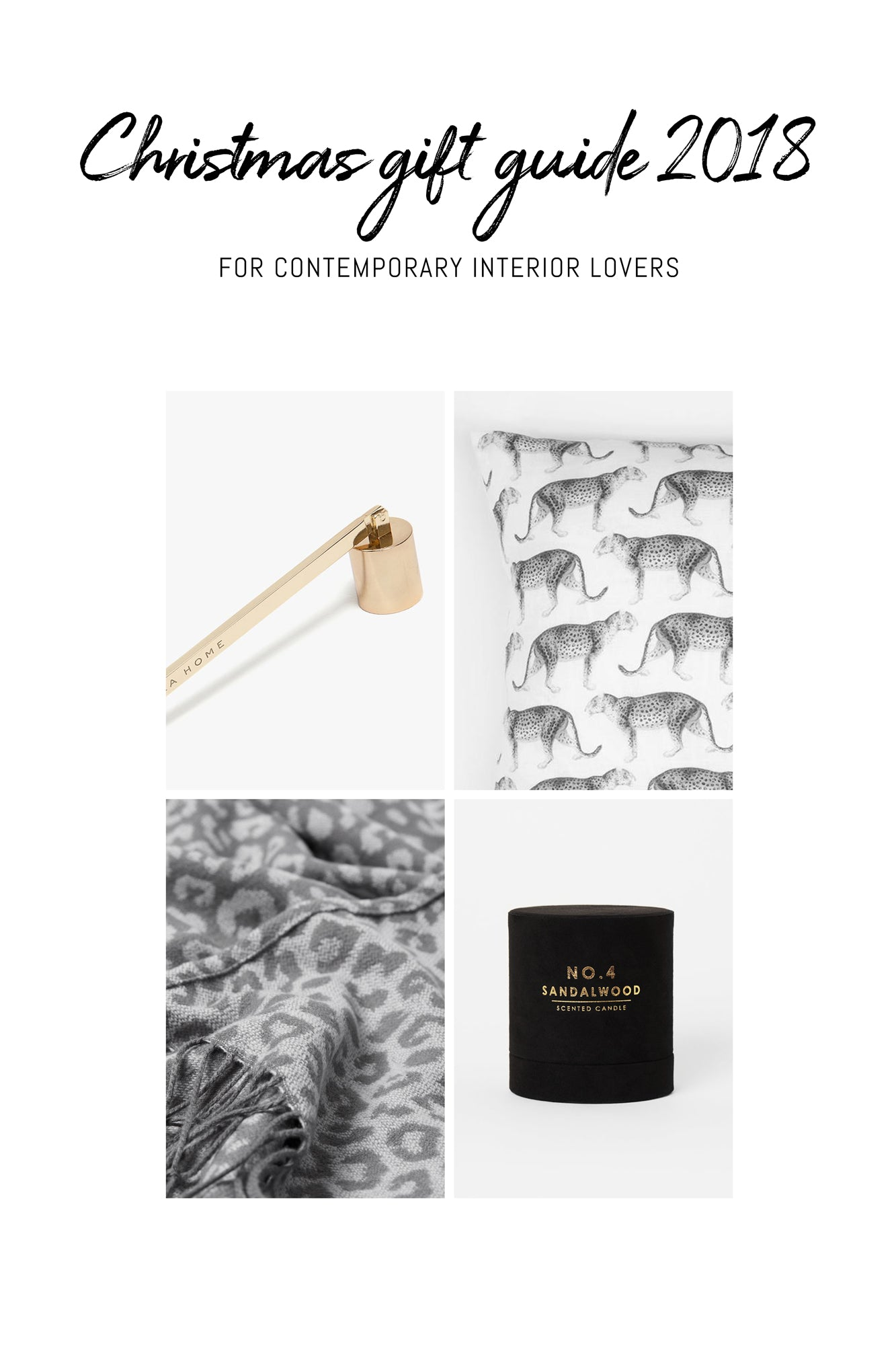 Christmas gift guide for contemporary interior lovers