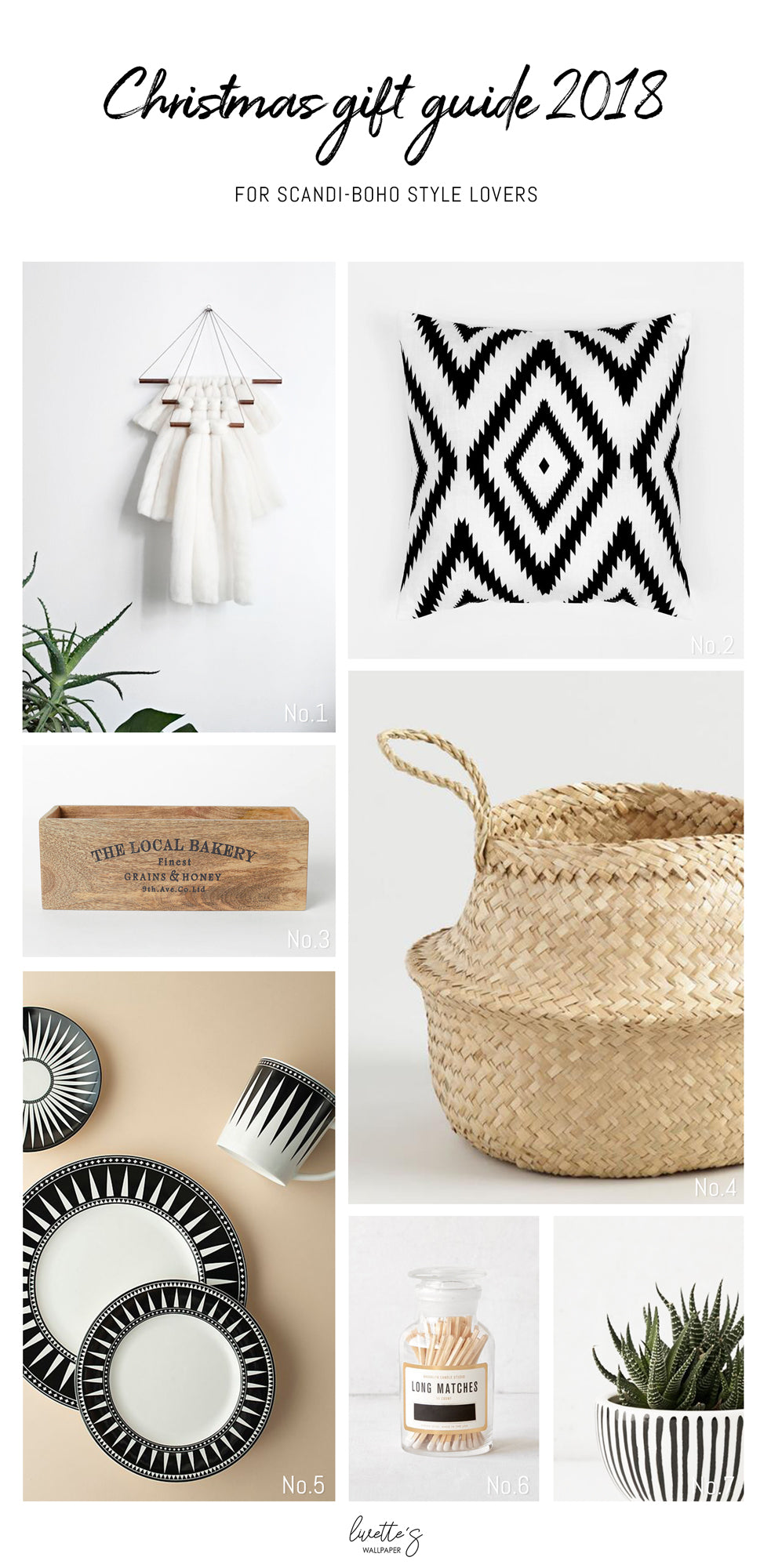 Christmas gift ideas for Scandi Boho interior lovers