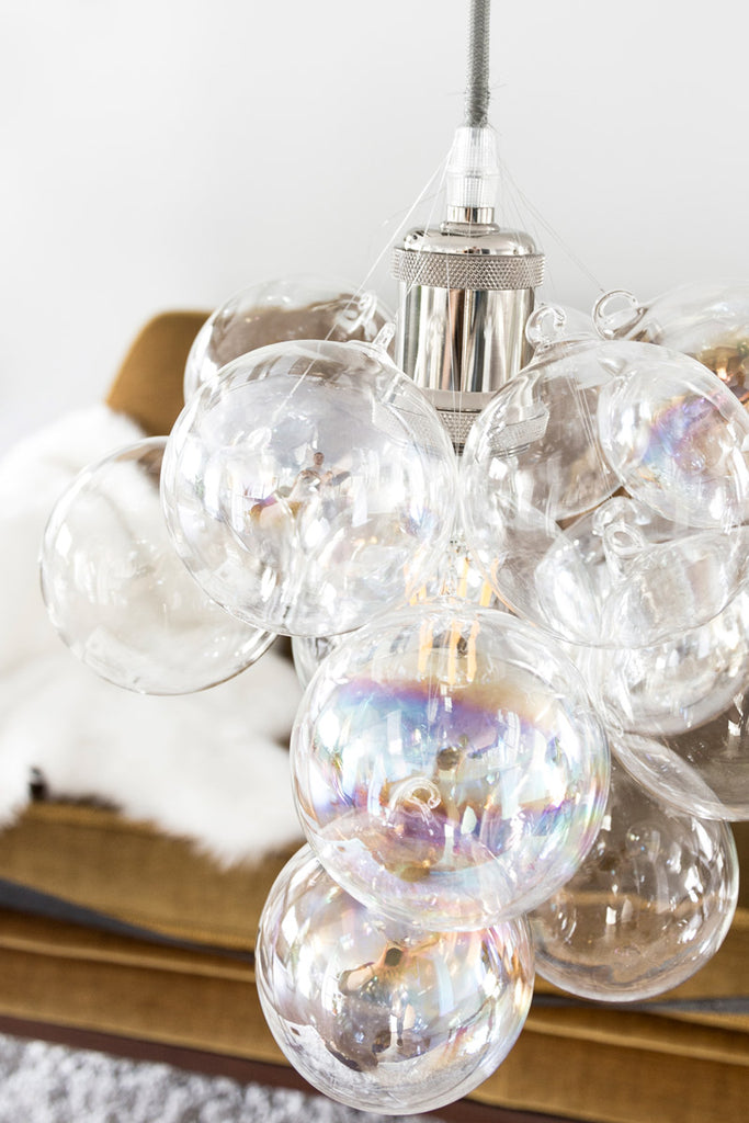 Do it yourself Christmas ornaments bubble chandelier