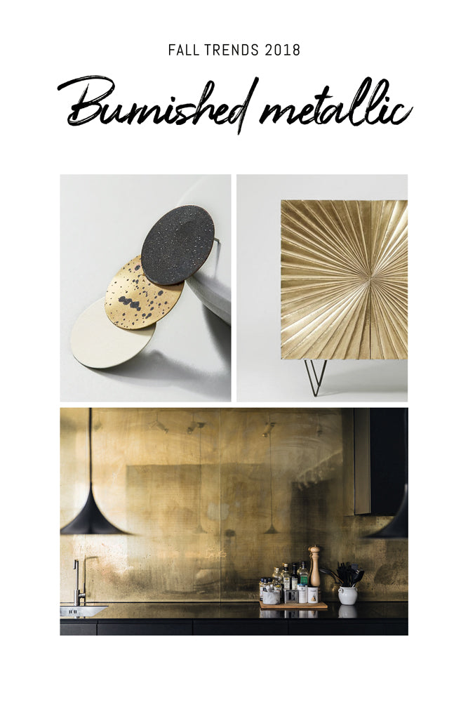 Burnished brass interior decor