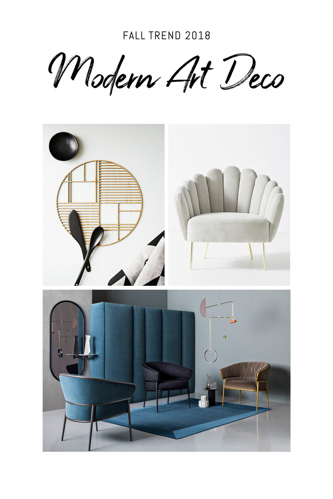 Modern Art Deco inspired interior accessories and furniture