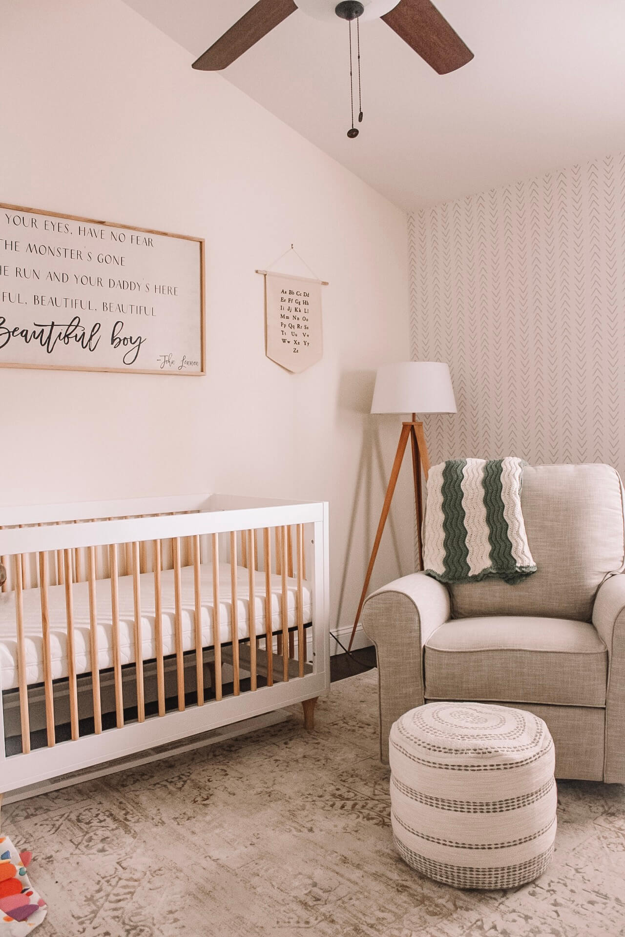 Minimal neutral colored nursery inspiration for baby boy