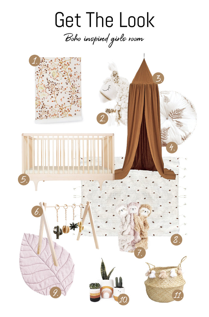 Get the look: bohemian style girls nursery
