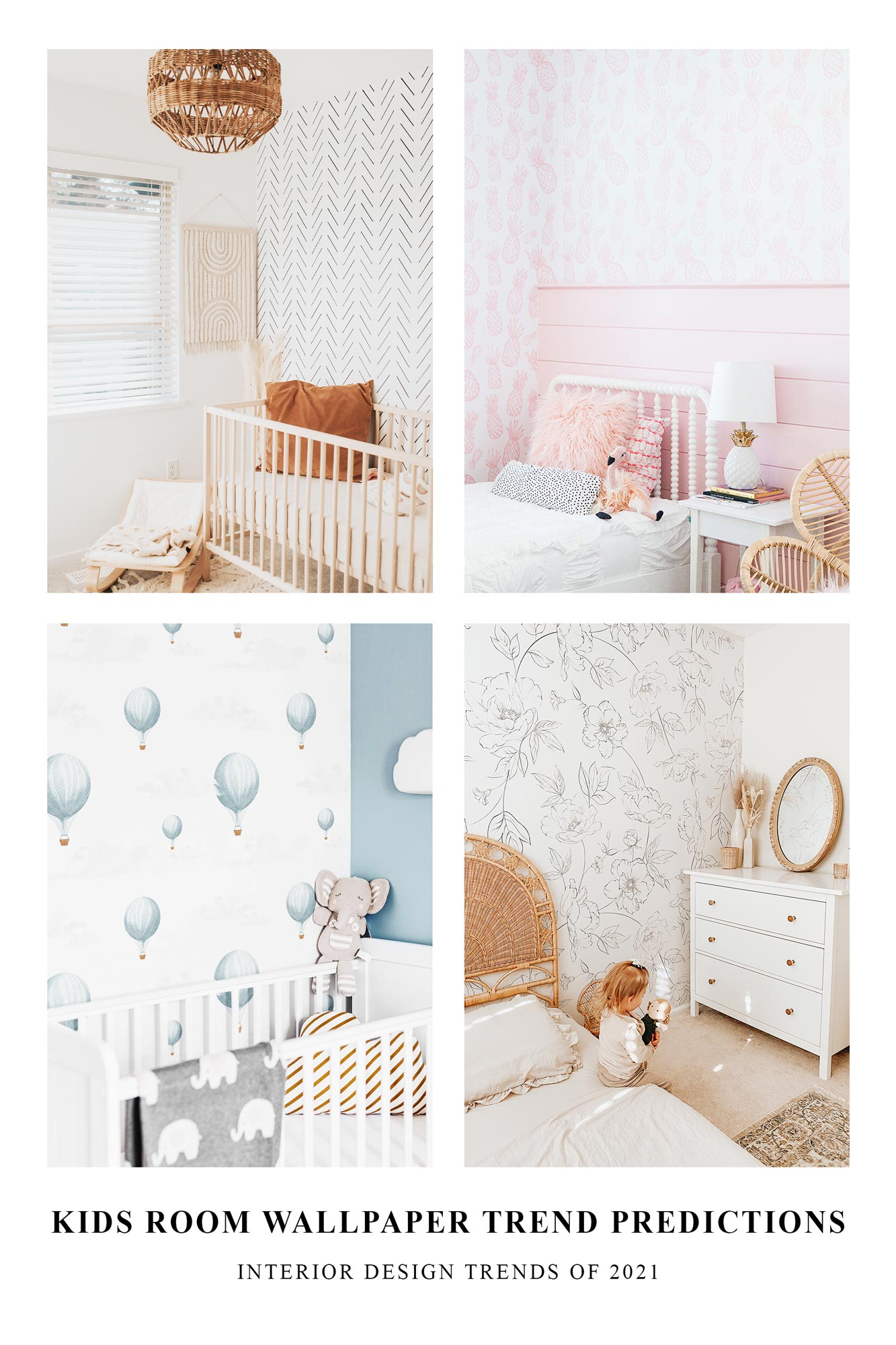 Kids room wallpaper trend predictions for 2021