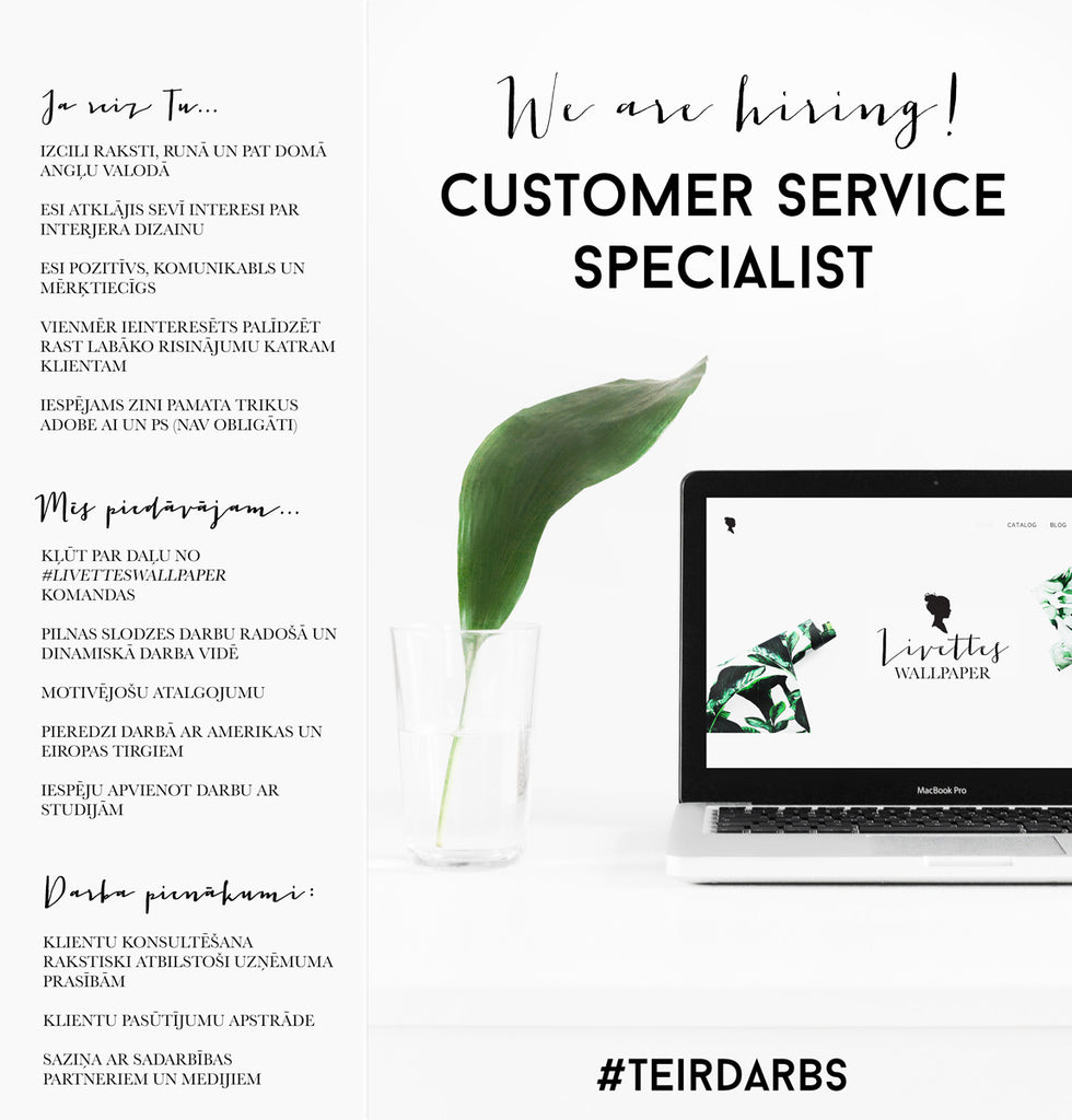 Online customer specialist wanted