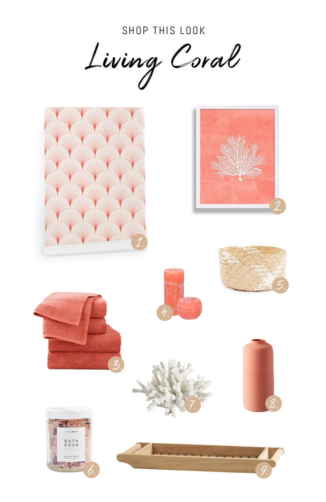 Decorating with Living Coral - shop this look