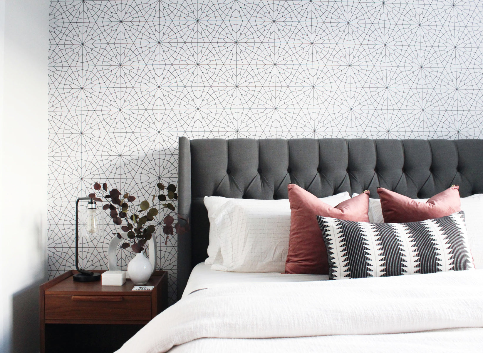 . Master bedroom tour   Modern  sophisticated interior with geometric