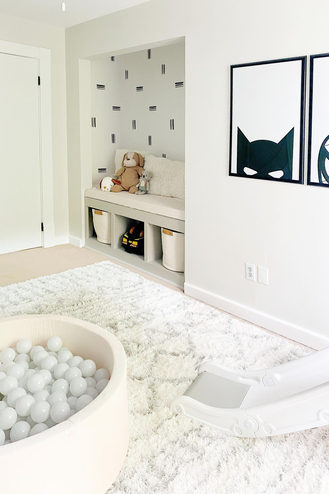 DIY traditional wallpaper project for the toddler playroom