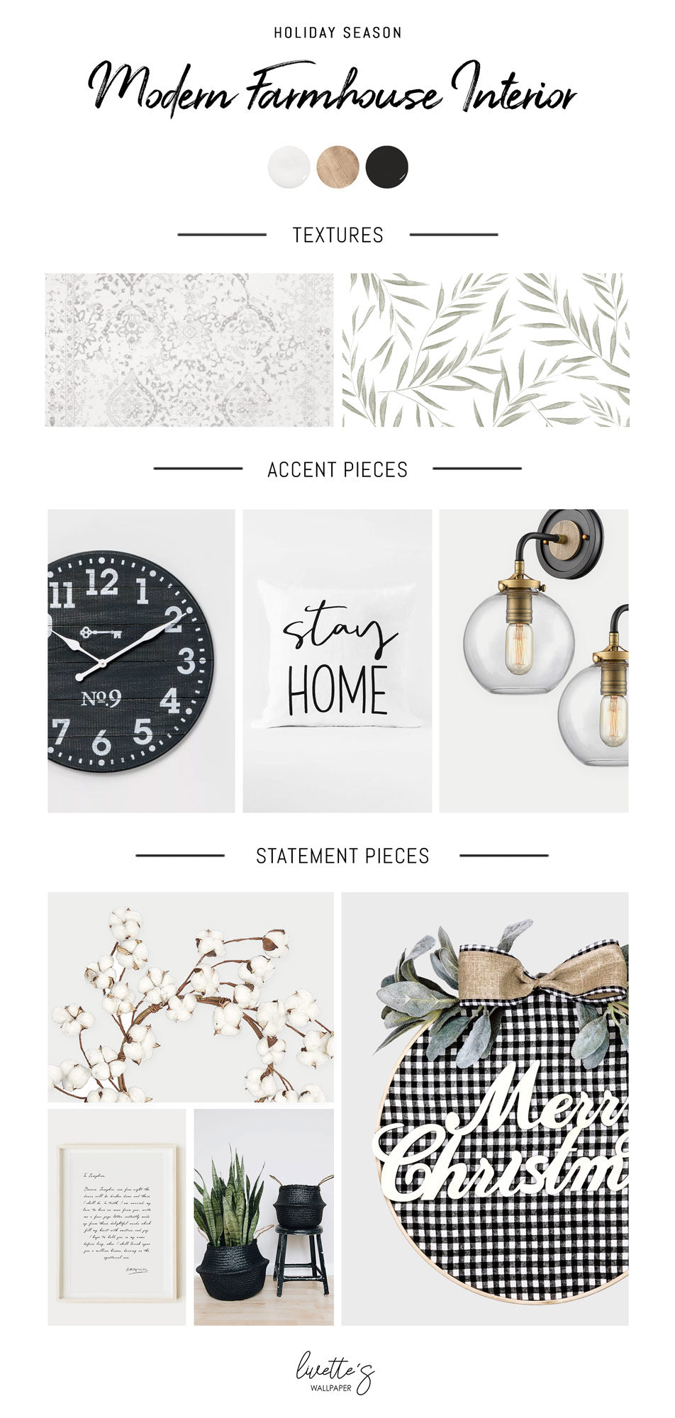 Modern farmhouse Christmas decoration ideas