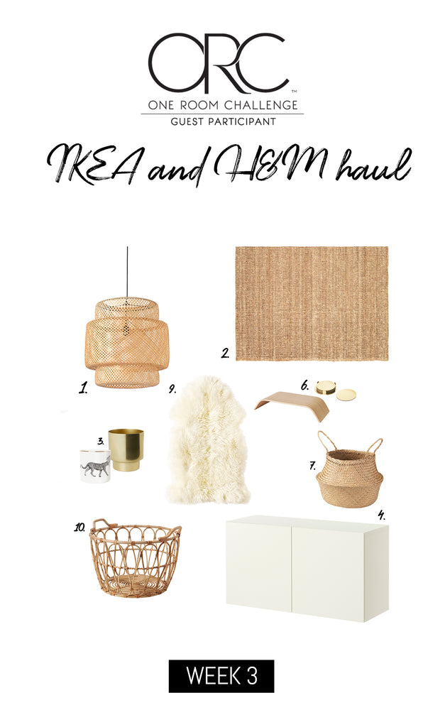 One room challenge 2018 week 3, boho chic ikea shopping list