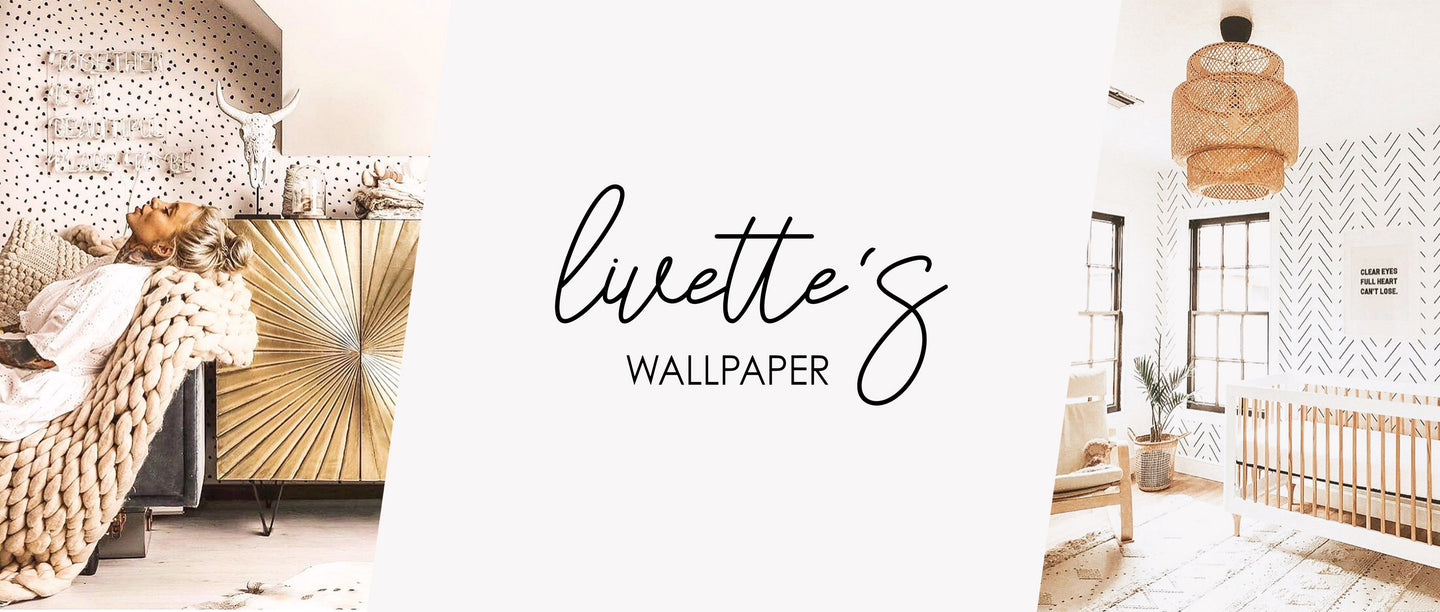 Modern boho removable wallpaper, peel & stick and traditional wallpaper by Livette's Wallpaper