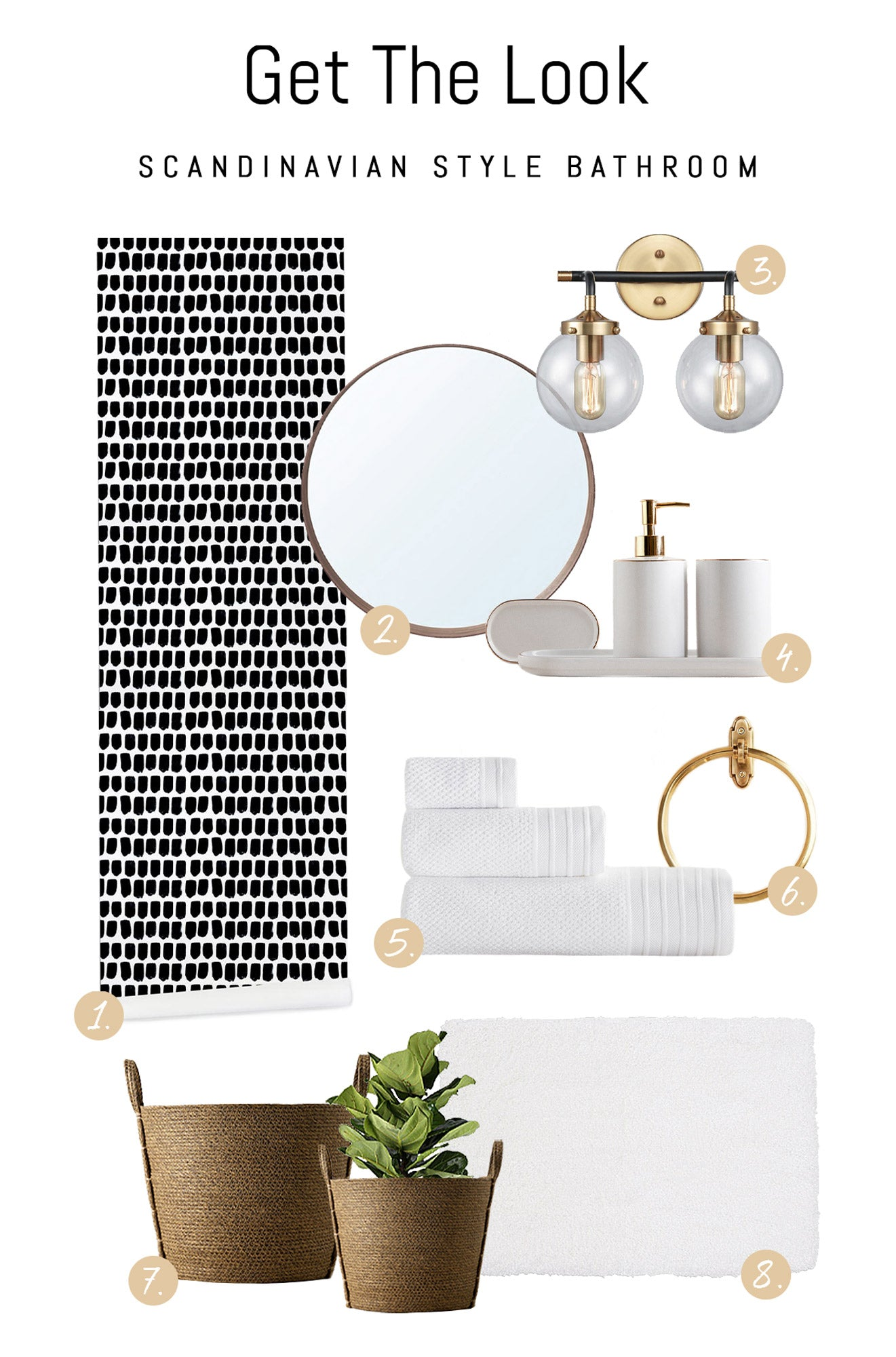 Shop Scandinavian style bathroom decor