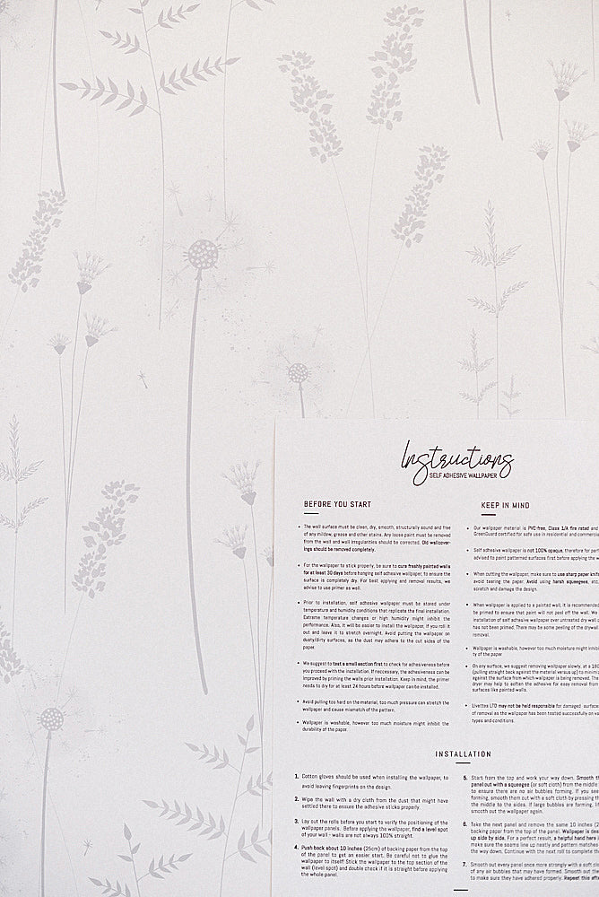 Removable wallpaper installation instructions and tips