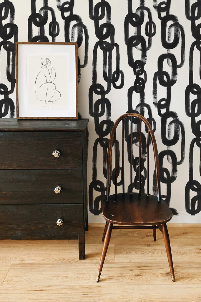 Abstract chain wallpaper pattern design