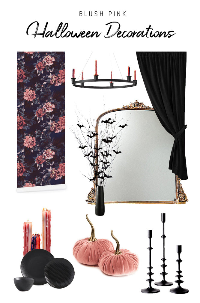 Pastel pink halloween party decorations
