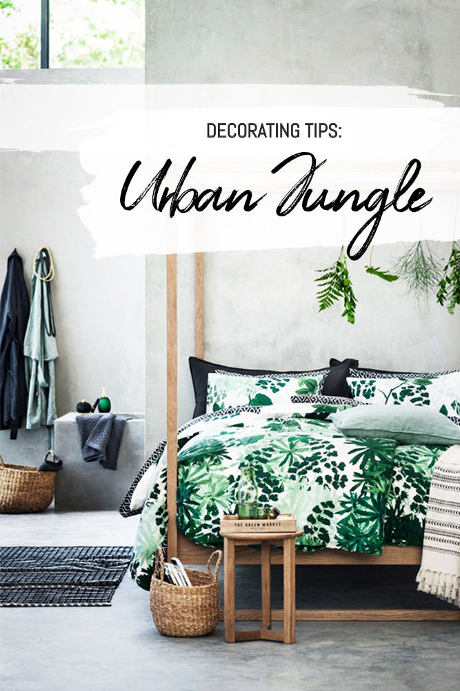Modern and minimal urban jungle style bedroom