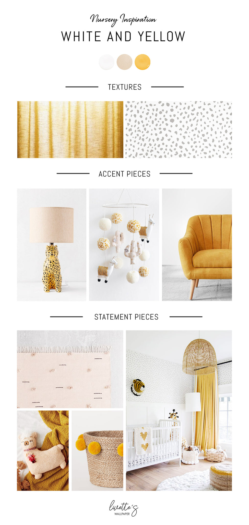 White and yellow nursery interior inspiration - Livettes