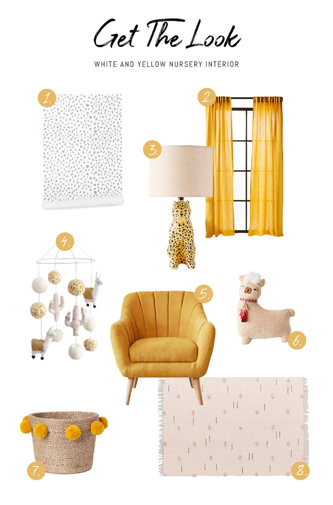 Shop the look of gender neutral white and yellow kids room interior - Livettes
