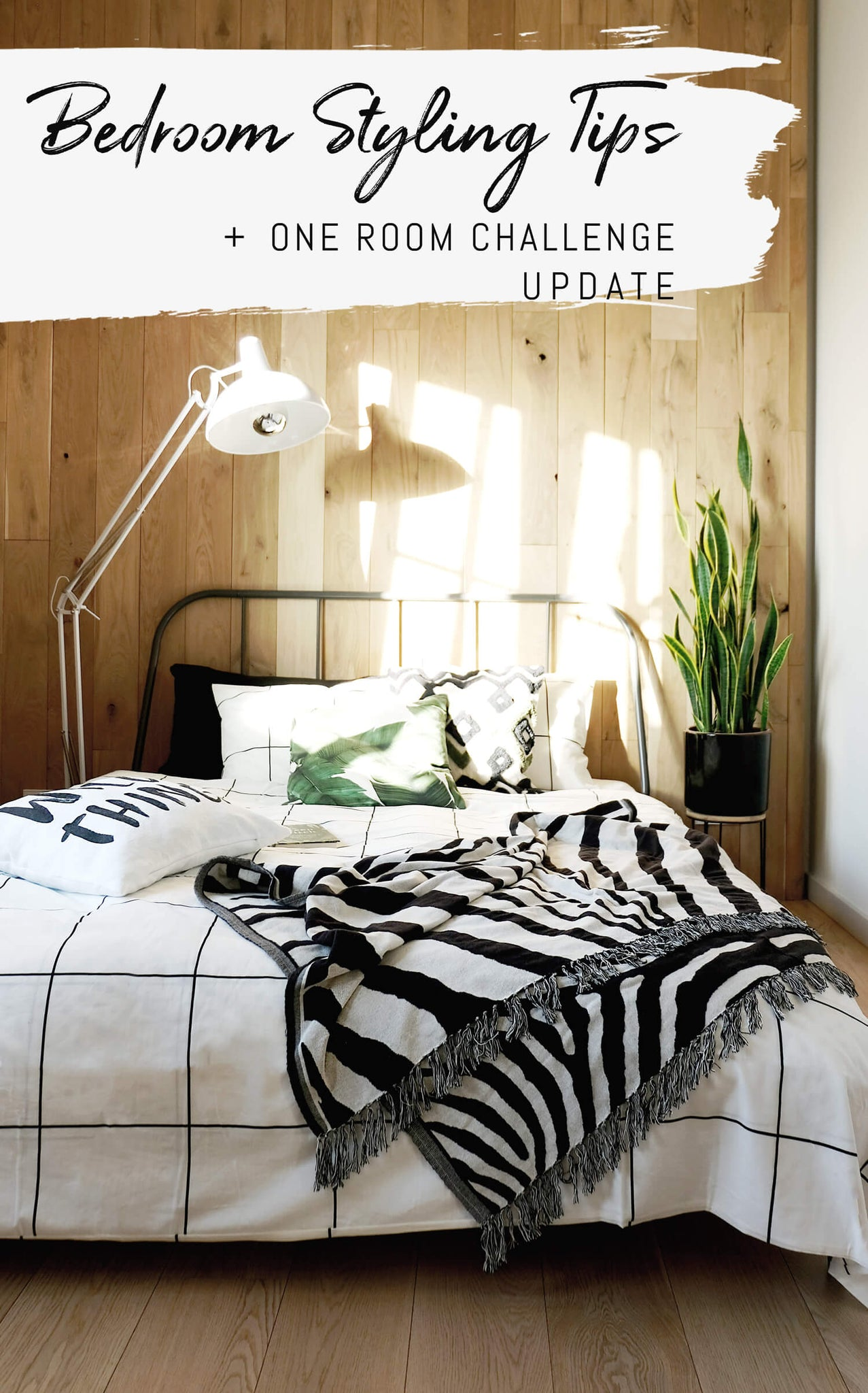 One Room Challenge 2019, Modern bohemian bedroom styling tips