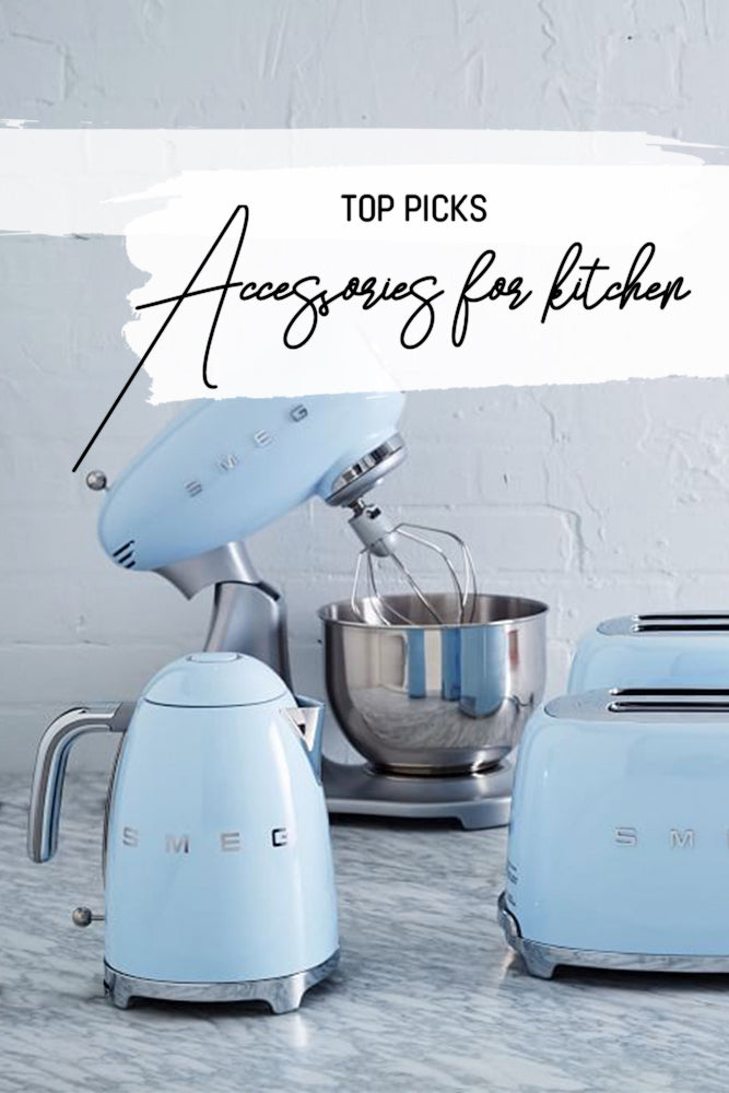 pale blue kitchen accessories