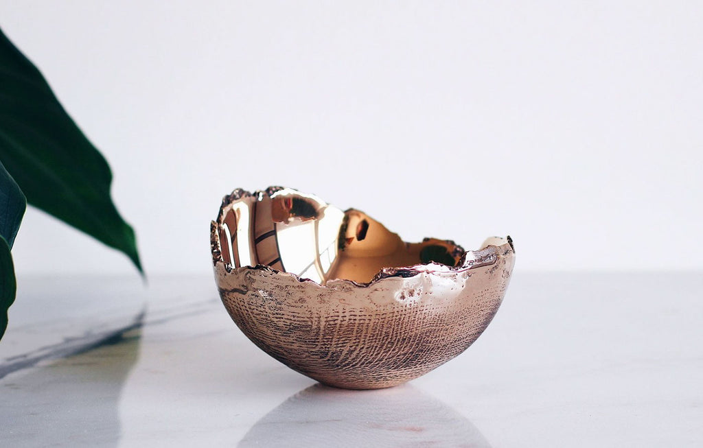 Wabi Sabi, unique bowl, bronze vessel, timless design, product by wood&woven