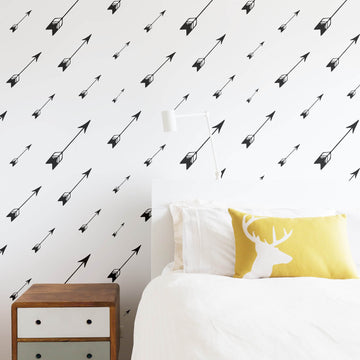 Modern arrow pattern removable wallpaper