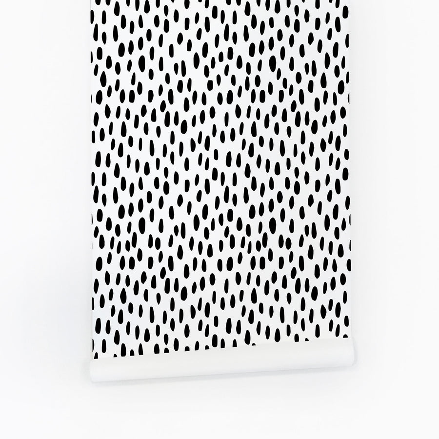 Black spot print temporary wallpaper