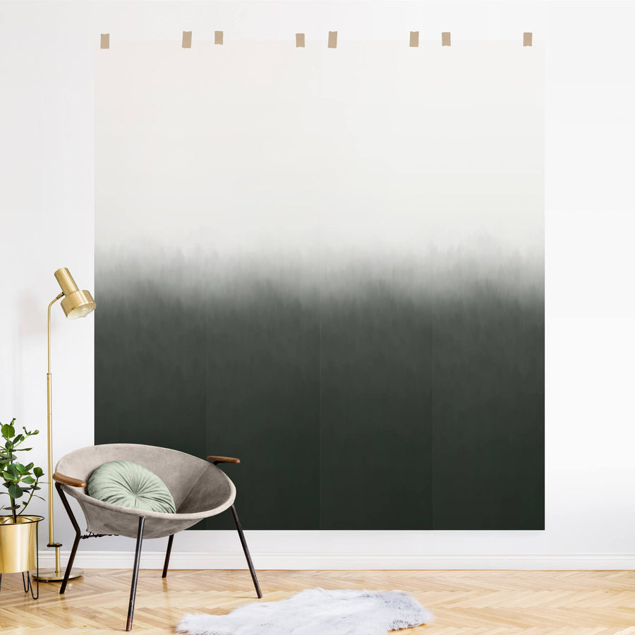 Dark Ombre removable wall mural inspired by nature