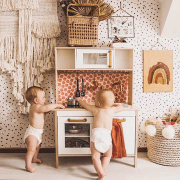 Baby kids room peel and stick wallpaper