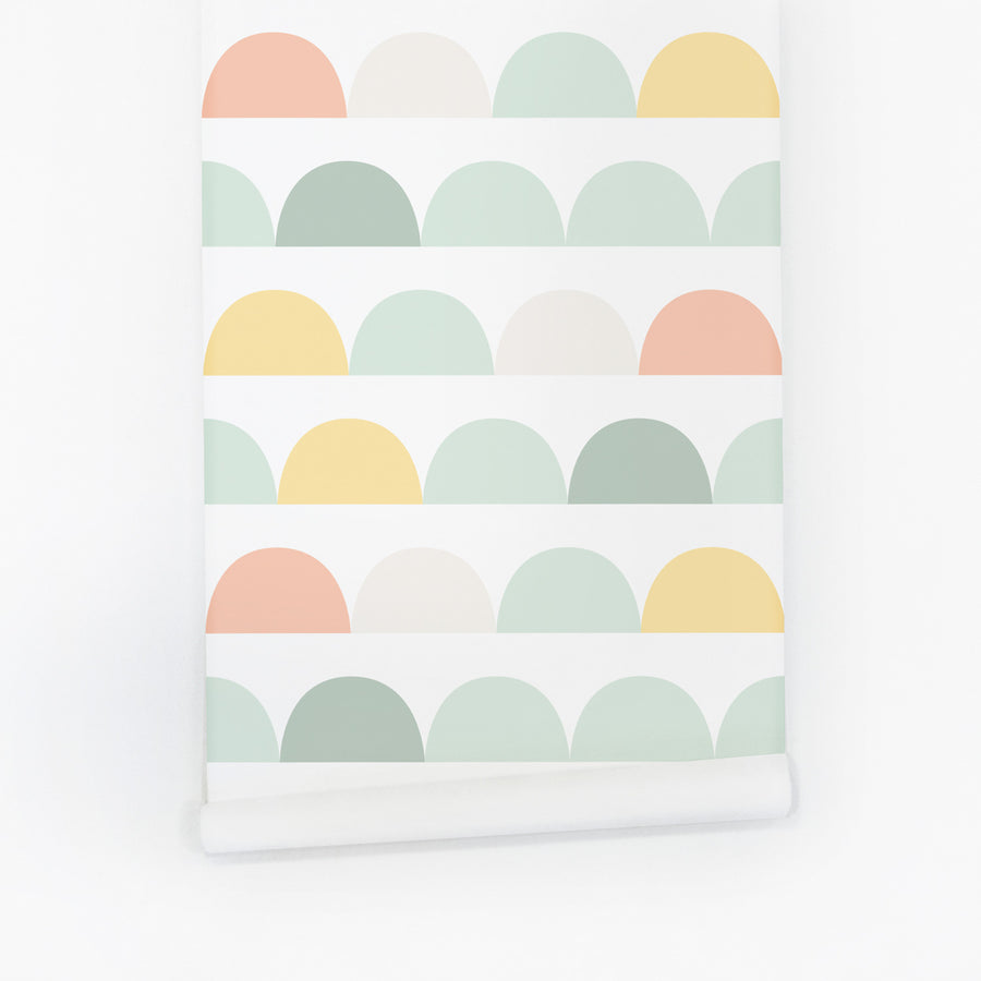 Light pastel clouds removable wallpaper