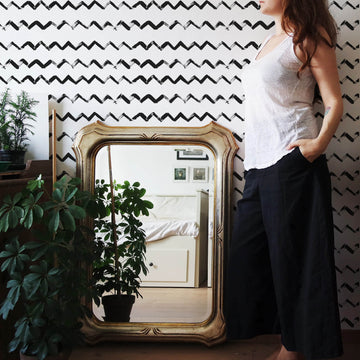 Fancy chevron removable wallpaper