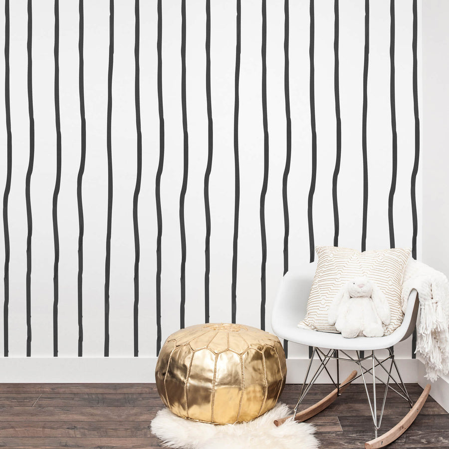 Minimal boho nursery removable wallpaper