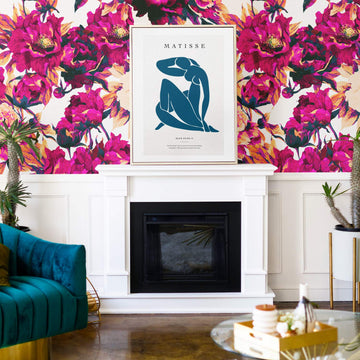 Bold Floral removable wall mural