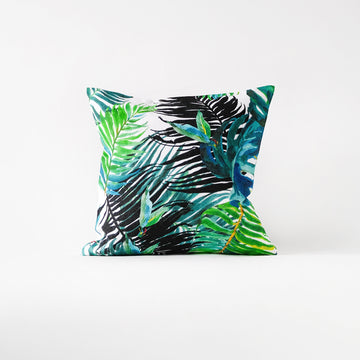 Bright tropical cushion cover