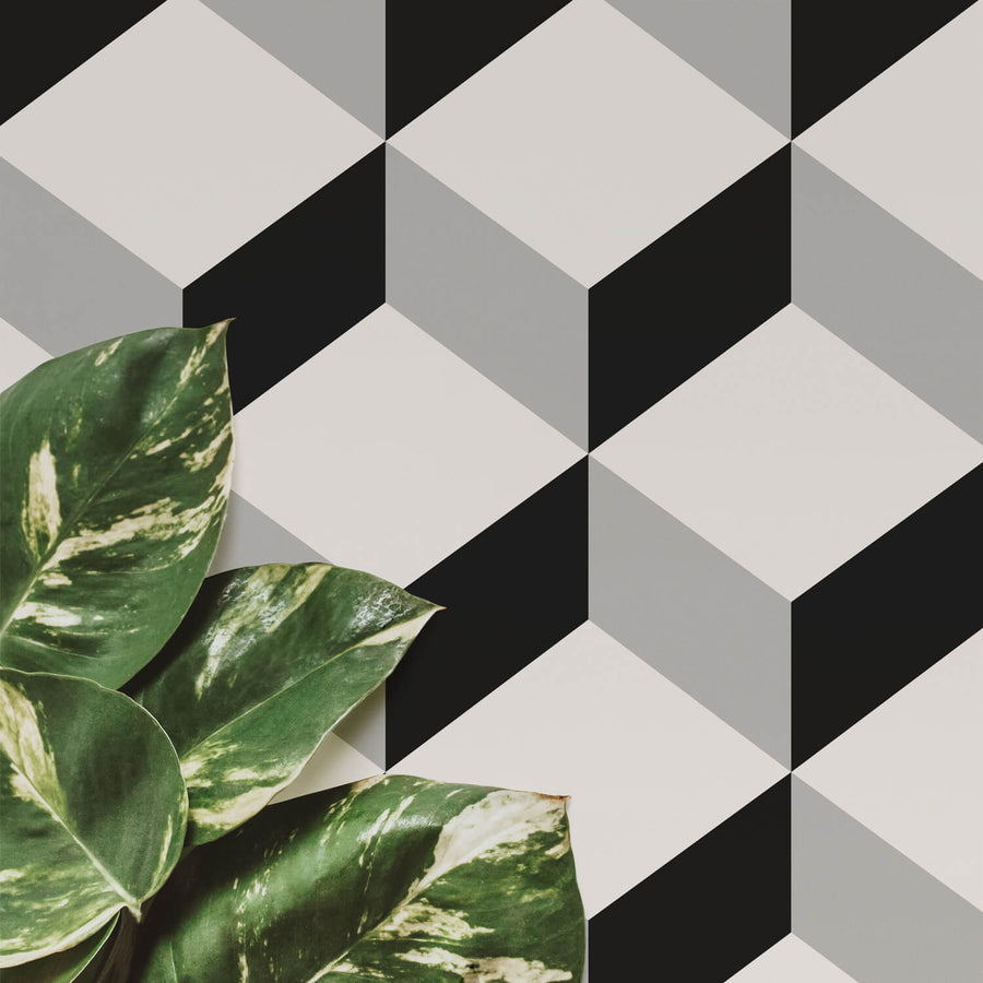 Geometric Cube pattern removable wallpaper
