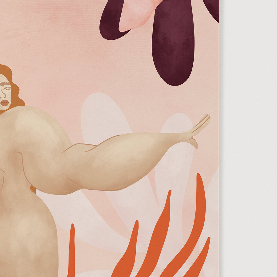 Close up of pink nude wall art poster