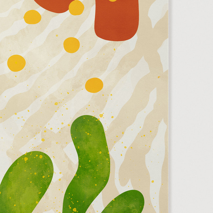 Abstract summer shapes illustration wall art poster