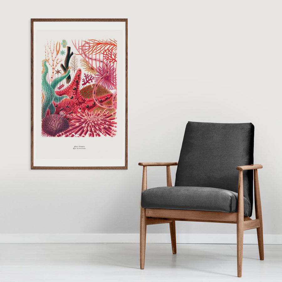 Vibrant color coral reef poster