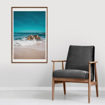 Turquoise waves ocean photography poster