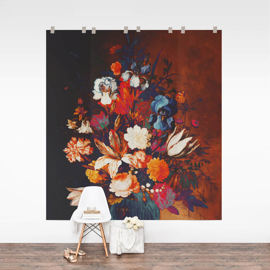 Boho Floral removable wall mural
