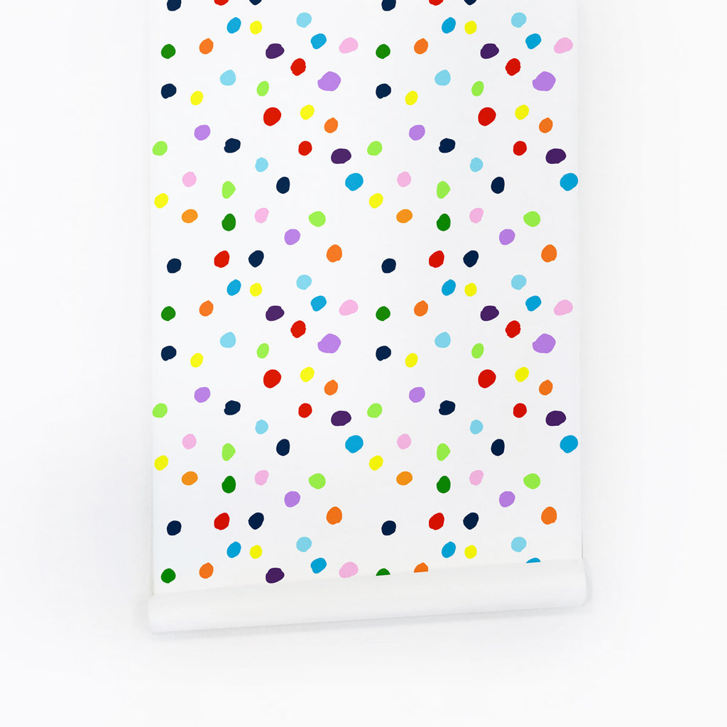 Paint dots removable wallpaper